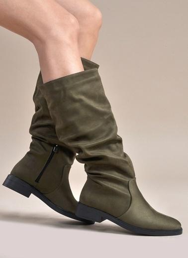 Vizon Ayakkabı Çizme Haki